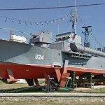 Romanian naval ship on display (StreetView)
