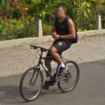 Hands-free bicycling (StreetView)