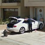 Washing car (StreetView)