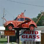 Ladybug Volkswagen On Pole (StreetView)