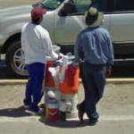 Vendors waiting for customers (StreetView)