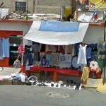 Clothing items stand (StreetView)
