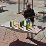 Sidewalk vendor (StreetView)