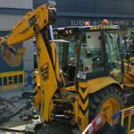 JCB backhoe loader in Dublin (StreetView)
