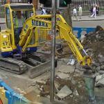 Breaking concrete (StreetView)