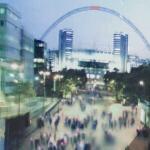 Artist's rendering of new Wembley Stadium (StreetView)