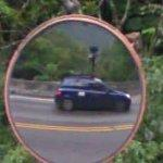 Google car in mirror (StreetView)