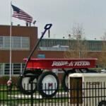 Giant Radio Flyer wagon (StreetView)