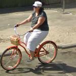 Orange bicycle (StreetView)