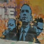 Barack Obama, Martin Luther King Jr. and Malcolm X (StreetView)