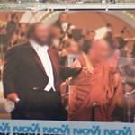 Luciano Pavarotti and Dalai Lama