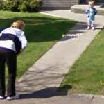 Baby first steps (StreetView)