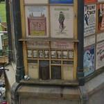 Vintage advertising and sales stand (StreetView)