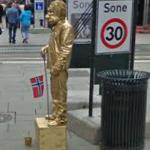 Golden man (StreetView)