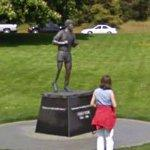 Terry Fox (July 28, 1958 – June 28, 1981) statue (StreetView)