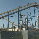 'Batman: The Ride' steel coaster (StreetView)
