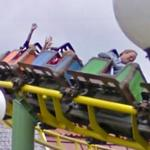 Roller coaster in action (StreetView)
