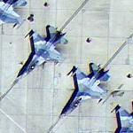 64th Aggressor Squadron (64 AGRS) F-16C Fighting Falcons (Google Maps)