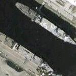 Two Algol (SL-7) class ships at Blount Island (Google Maps)