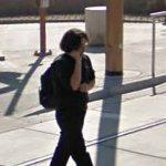 Girl on cell phone (StreetView)