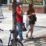 Man with a cellphone (StreetView)