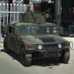 Mexican Army Humvee with manned gun turret (StreetView)