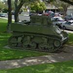 M3 Stuart tank (StreetView)