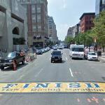 Finish line for the 113th Boston Marathon (StreetView)