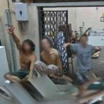 Italians say hi (StreetView)