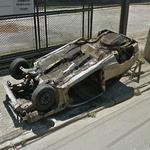 Car destroyed (StreetView)