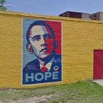 Couple small Obama murals (StreetView)