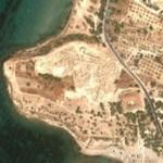 Excavations at Colonna (Google Maps)