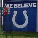 Indianapolis Colts logo - 'We Believe' (StreetView)