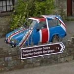 Union Jack colored Reliant Robin (StreetView)