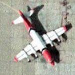 Two P-3 Fire Tankers at Albuquerque Air Tanker Base (Google Maps)