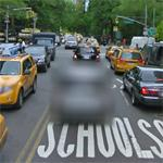 Intentionally blurred vehicle (StreetView)
