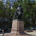 Mikhail Lomonosov statue (StreetView)