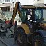 Excavator in action (StreetView)