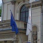 Flags of Cyprus & European Union (StreetView)