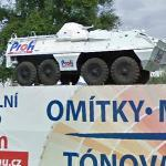 Armored vehicle on a display (StreetView)