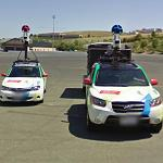 Two different types of Google car (StreetView)