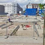 New fountain under construction (StreetView)