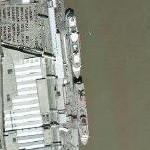 Two cruise ships docked in New Orleans (Google Maps)