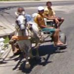 Wagon pulled by horse (StreetView)