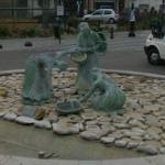 Sculpture in roundabout
