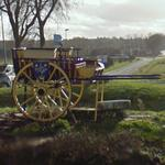 Cart in roundabout
