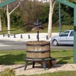 Wine Press in roundabout (StreetView)
