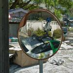 Google Cam Car in the Mirror (StreetView)