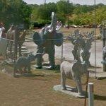 Elephant statues (StreetView)
