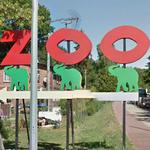 Elephants at Gdansk Zoo sign (StreetView)
